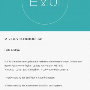 Huawei Mate 7 aktuelle Firmware