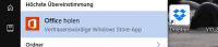 Windows 10 Office holen entfernen