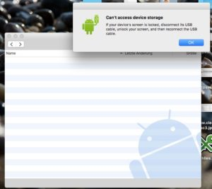 Android File Transfer Fehler