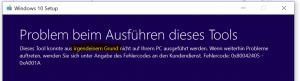 Fehler Windows 10 Media Creation Tool 0x80042405 - 0xA001A